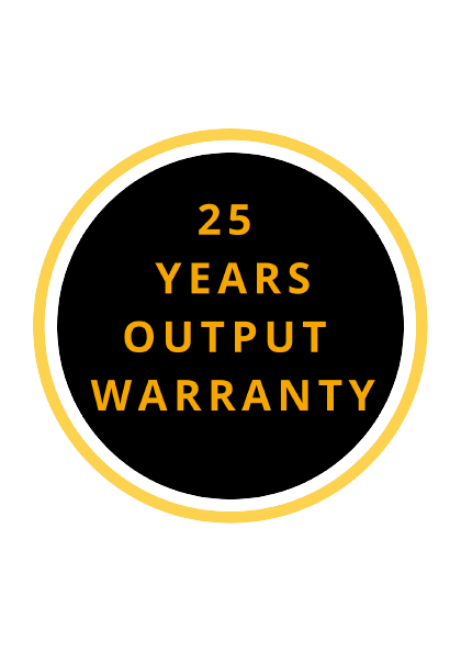 25 years product warranty